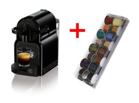 Delonghi EN80.B Inissia Fekete Nespresso kávéfőző + 16 db ráadás kapszulával