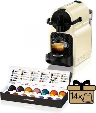 Delonghi EN80.CW Inissia Nespresso kávéfőző + 14 db ráadás kapszulával